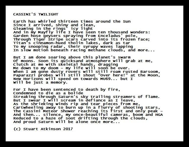 CASSINI'S TWILIGHT poem